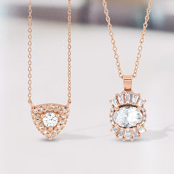 Diamond Pendants At Jewelers On Main